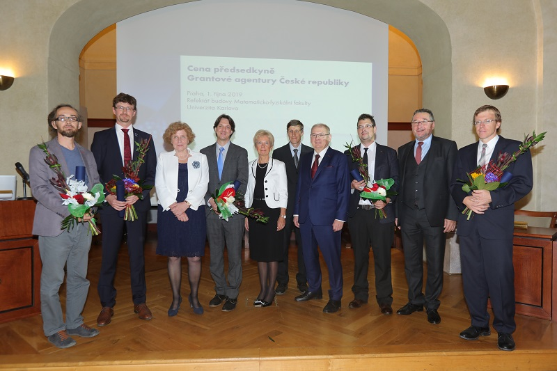 GACR Presidium members and awarded scientists