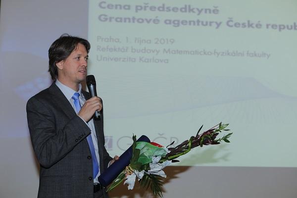 doc. MUDr. Mgr. Marek Mráz, Ph.D. na předávání cen předsedkyně GA ČR