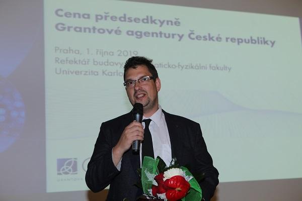 Doc. Ing. Zdeněk Sofer, Ph.D. na předávání cen předsedkyně GA ČR