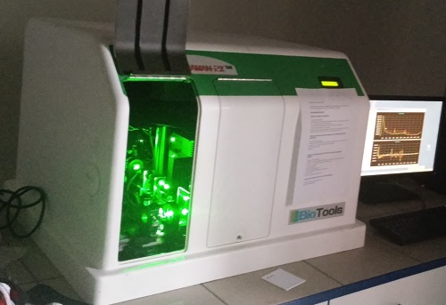 Spektrometr pro měření Ramanovy optické aktivity